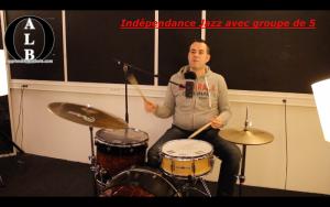 Indépendance jazz avec groupe de 5